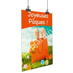 Affiche Joyeuses Pâques - Orange