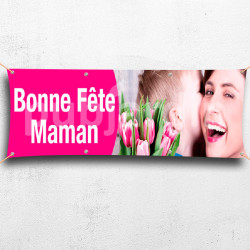 Banderole Fête des Mères-rose