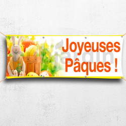 Banderole Joyeuses Pâques - lapin