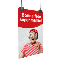 A89- Affiche bonne Fête Super Mamie