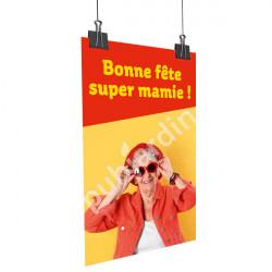 A90- Affiche bonne Fête Super Mamie
