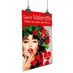 Affiche Saint Valentin rouge