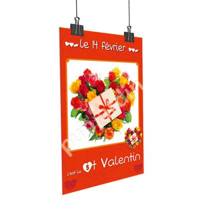 A13- Affiche Saint Valentin cadeau