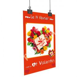 Affiche Saint Valentin cadeau