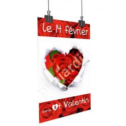 Affiche Saint Valentin coeur