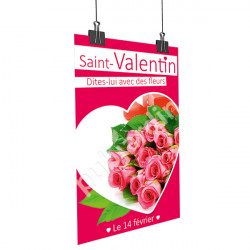Affiche Saint Valentin rose