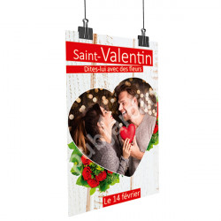 A16- Affiche Saint Valentin couple