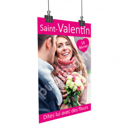 A17- Affiche Saint Valentin couple rose