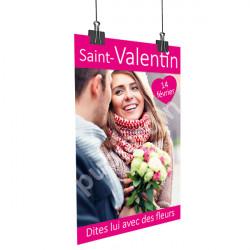 Affiche Saint Valentin couple rose