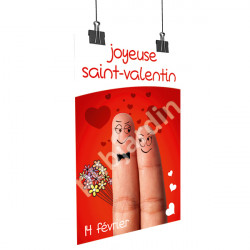 Affiche Saint Valentin humour
