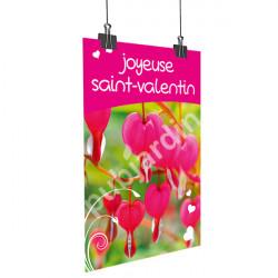 Affiche Saint Valentin Coeur de Marie