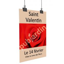 Affiche Saint Valentin beige