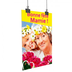 A25- Affiche Bonne Fête Mamie