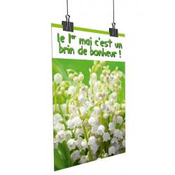 Affiche 1er mai muguet - verte