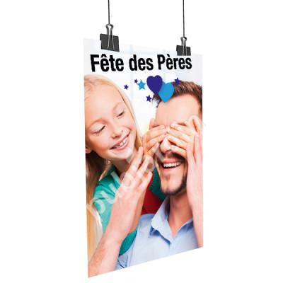 A44- Affiche Bonne Fête Papa - Bleu