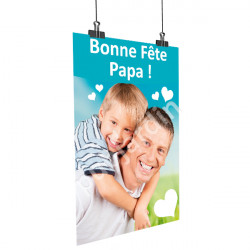 Affiche Bonne Fête Papa - Garçon