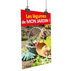 Affiche les légumes de mon jardin - Panier