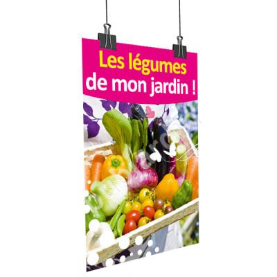 A51- Affiche les légumes de mon jardin - Rose