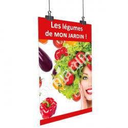 A61- Affiche les légumes de mon jardin - Rouge