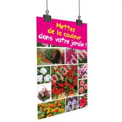 A69- Affiche de la couleurs dans votre jardin