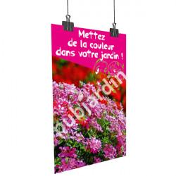 A74- Affiche Géranium couleur jardin