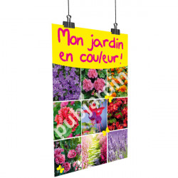 A75- Affiche multi-fleurs jaune