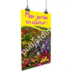 A76- Affiche fleurs été