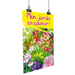 A77- Affiche jardin en couleur
