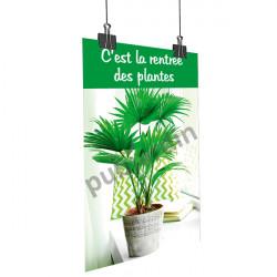 Affiche rentrée des plantes déco