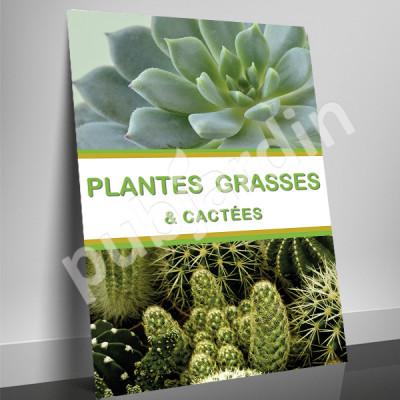 A84- Affiche Plantes grasses et cactées