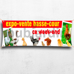 Banderole expo-vente Basse-cour