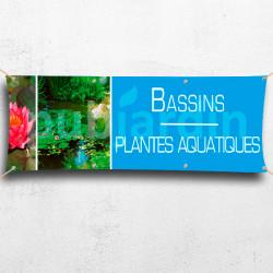 Banderole Plantes bassin aquatique