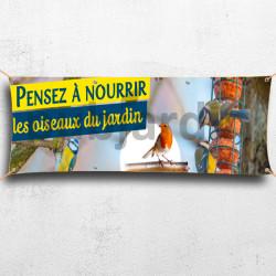 C58- Banderole Oiseaux du jardin