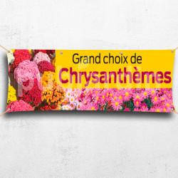 C28-Banderole grand choix Chrysanthème