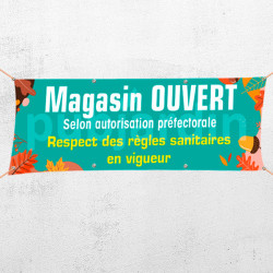 C56-Banderole Magasin ouvert