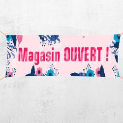 C57-Banderole Magasin ouvert violet
