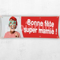 C61-Banderole Bonne Fête Super Mamie