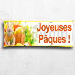C41-Banderole Joyeuses Pâques - lapin