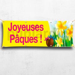 C42-Joyeuses Pâques - jaune