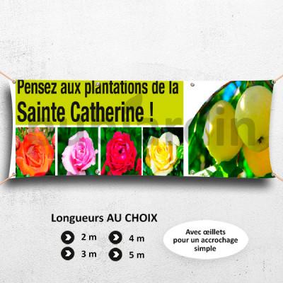 C35-Banderole Pensez aux plantations de la Sainte Catherine