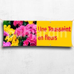 Banderole Une Toussaint en fleurs