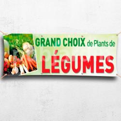 C17-Banderole Grand choix de Plants de Légumes