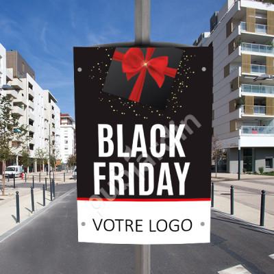 CP10- Cache poteau Black Friday personnalisé
