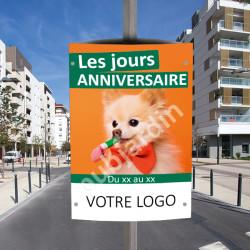 CP6- Cache poteau anniversaire animalerie