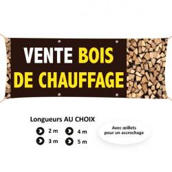 C87- Banderole vente de bois de chauffage