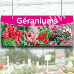 Panneau Géraniums à suspendre