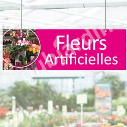 Panneau Fleurs Artificielles en Dibond®