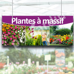 P3- Panneau signalétique à suspendre Plantes à massif